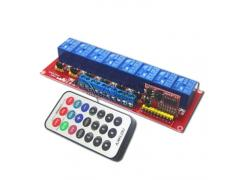 8-Channel Infrared Remote Control Relay Module IR Switch 5V