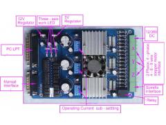 3 Axis TB6560 CNC Stepper Motor Driver Controller Board